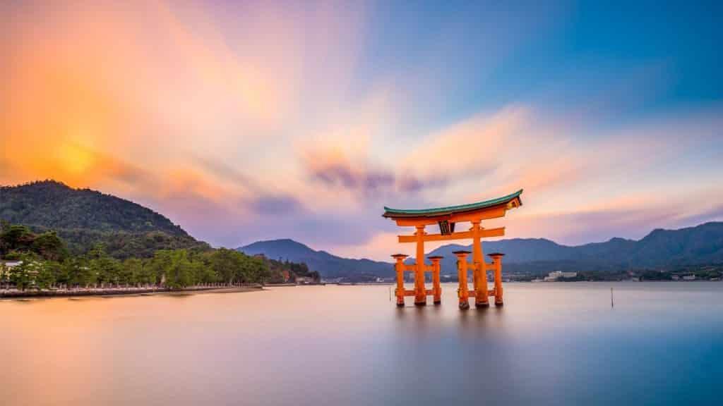 Circuit Japon sanctuaire Itsukushima Hiroshima