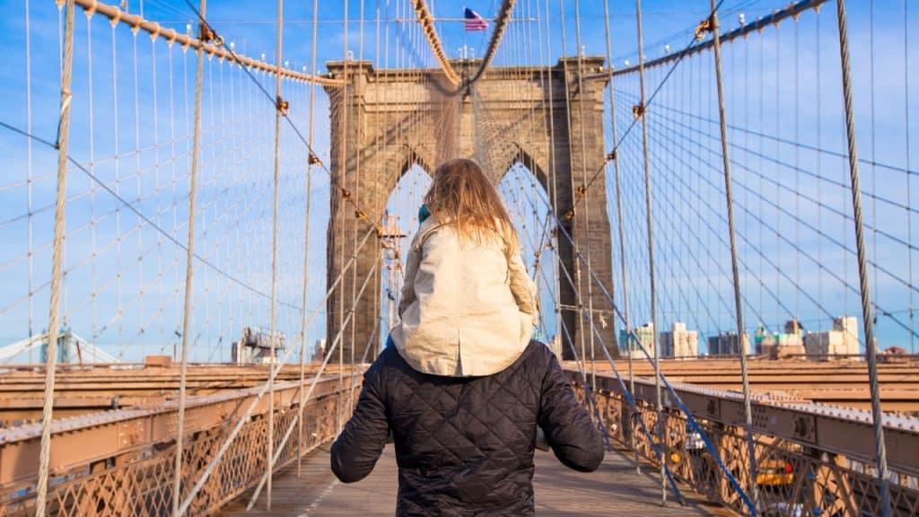Circuit New York famille Brooklyn bridge